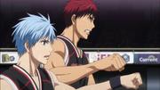 Kuroko and Kagami bumping fists
