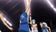 Kuroko scores the first points of the match