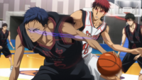 Aomine and Kagami battle in the Zone