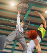 Kise's dunk on Kagami
