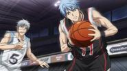 Kuroko recieves the ball anime