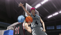 Akashi moves on to block Kuroko