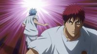 Kuroko passes Kagami