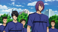 Himuro's team during the streetball tournament