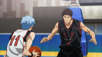 Susa in the match against Seirin (anime)