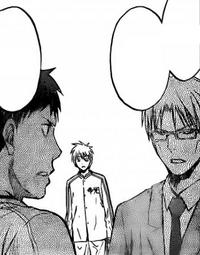Kuroko napotyka trenera i Aomine