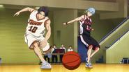 Takao blocking Kuroko's pass anime