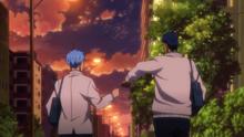 La amistad entre Kuroko y Aomine