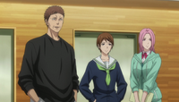 Kagetora, Riko and Momoi overseeing VS