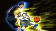 Kise pass through Aomine