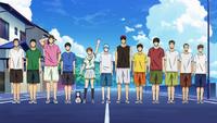 Seirin team's arrival at the beach (Ep. 10 SC)