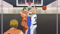 Midorima blocks Hayama anime