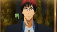 Kagami with glasses