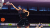 Aomine scores first point