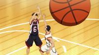 Koga shoots vs Shuutoku anime