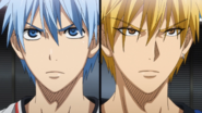 Kuroko and Kise subbed back in