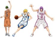 Anime Midorima, Kise and murasakibara