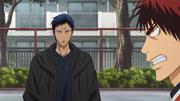 Aomine greets Kagami
