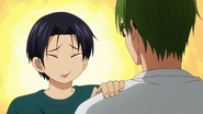Takao and Midorima after practice anime