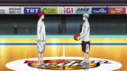 Akashi and Kuroko before the finals