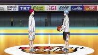 Akashi and Kuroko before the finals