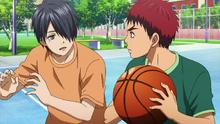 Himuro apprend le basket à Kagami