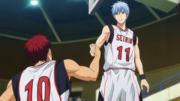 Kuroko helps Kagami stand up