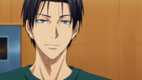 Takao talks to Midorima after practice anime