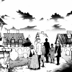 Ciel, Sebastian and the rest of the Phantomhive household servants discover a village within the Werewolves' Forest.