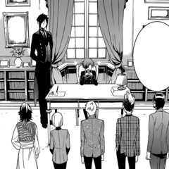 The Phantom Five with Ciel and Sebastian.