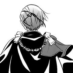 In Sebastian's flashback, Ciel turns his back.