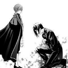 In Sebastian's flashback, he bows to Ciel.
