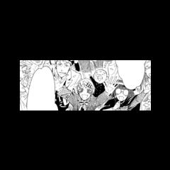 Mey-Rin y los demás sirvientes despidiéndose de Ciel, Sebastian y Snake en el puerto.