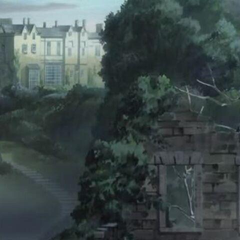 Vista de la mansión.