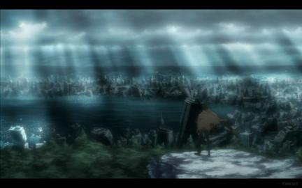 Kuro Overlooks City Ruins