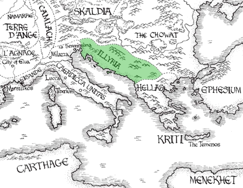 Illyria   Kushiel's Legacy Wiki   FANDOM powered by Wikia on malazan world map, terre d'ange map, randland map, tamil map, camorr map,