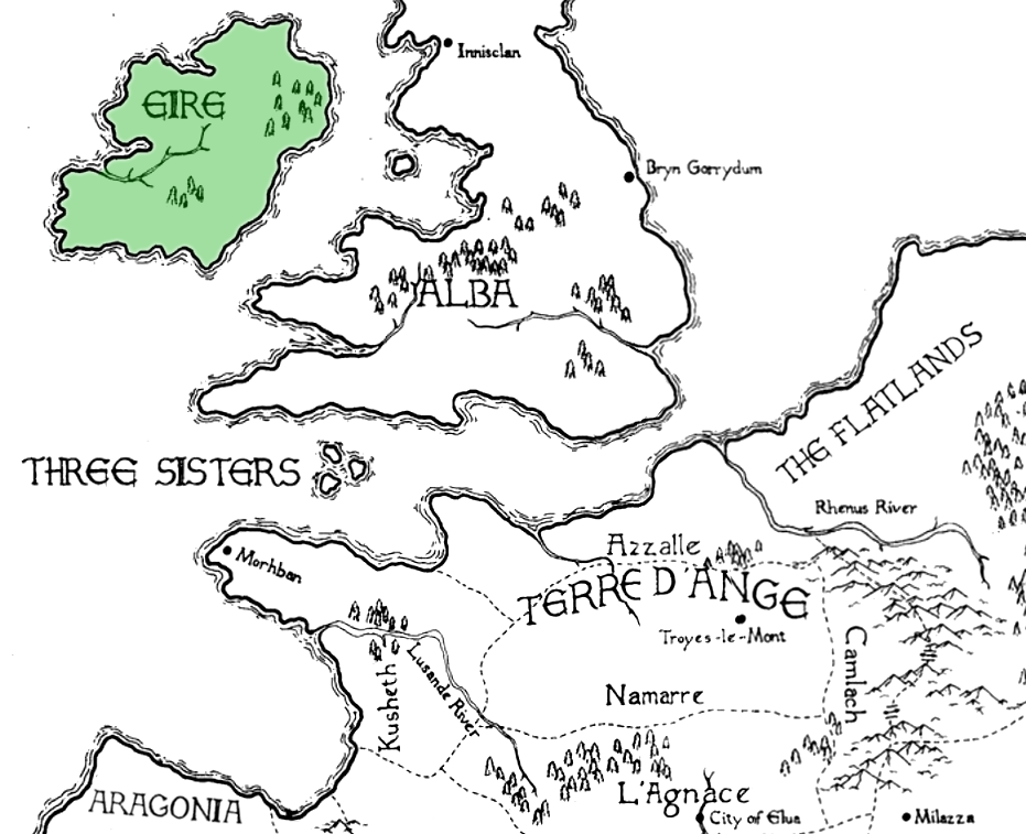 Ysandre De La Courcel Kushiel S Dart on malazan world map, terre d'ange map, randland map, tamil map, camorr map,