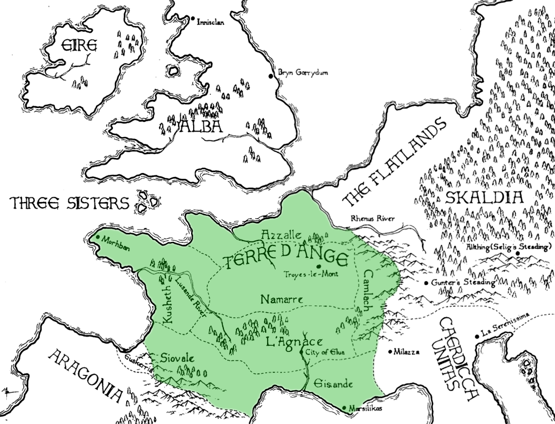 Terre d'Ange | Kushiel's Legacy Wiki | Fandom on terre d'ange map, malazan world map, randland map, camorr map, tamil map,