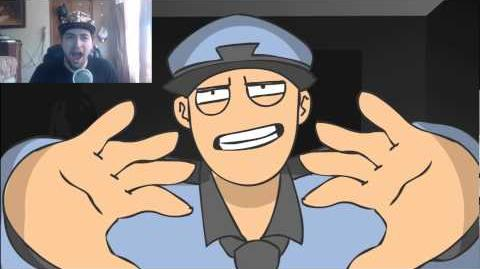 Kushowa Reacts to Chica and the Night Guard - Poker Face FNAF Animation MV