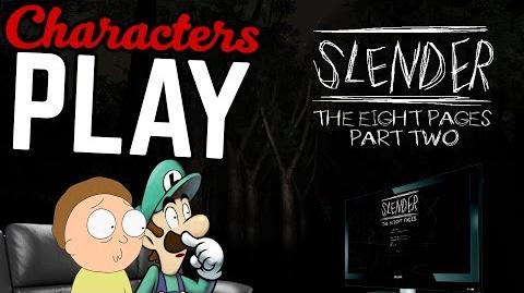 Characters Play Slender Ft. Morty & Luigi PART 2 2