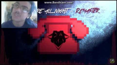 DEMON REACT FNAF SONG (Not Here All Night) REMASTERED! - DAGames