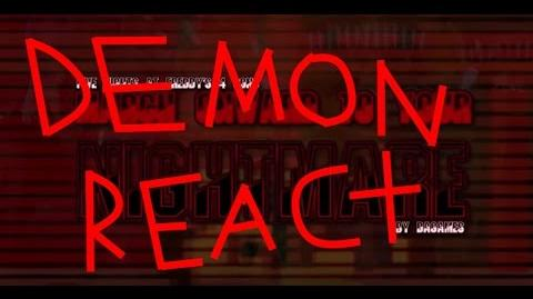 DEMON REACT FIVE NIGHT AT FREDDY'S 4 SONG (MARCH ONWARD TO YOUR NIGHTMARE) LYRIC VIDEO - DAGames
