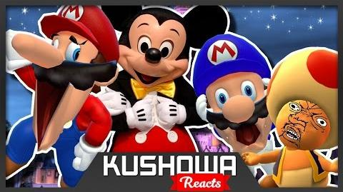 Kushowa Reacts to SMG4: Mario goes to DIDNEY WORL