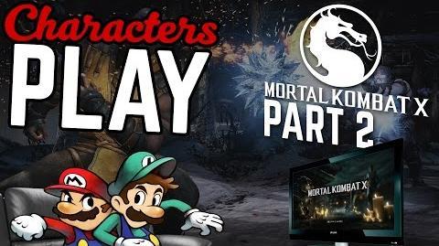 Characters Play Mortal Kombat X Ft. Mario & Luigi PART 2 2