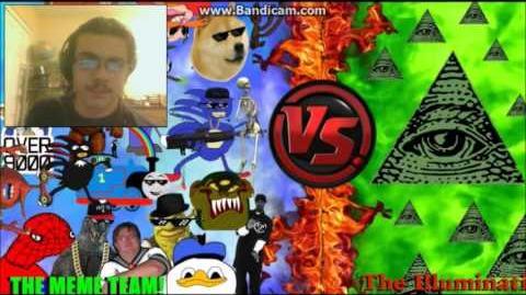 DEMON REACT MLG and YOUTUBE POOP vs ILLUMINATI! FINAL FACE OFF! Cartoon Fight Club Episode 33