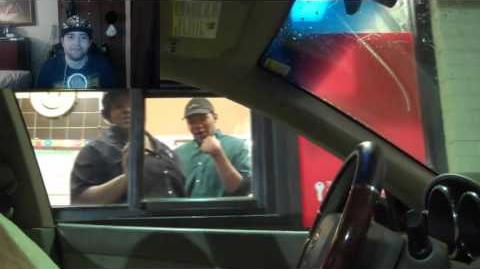 Kushowa Reacts to Drive Thru Invisible Driver Prank