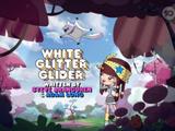 White Glitter Glider