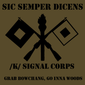 K signal corps patch