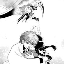 Rinne and Sakura Hug