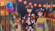Tsubasa with Miho & Rika